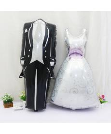 Nafukovací balónky - svatební šaty