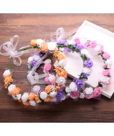 Svatební květinový věnec - čelenka