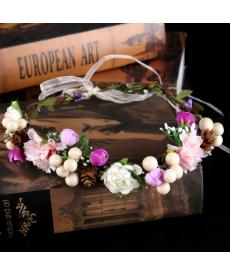 Svatební květinová čelenka
