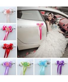 Sada svatebních dekoračních mašlí na auto