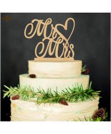 Dřevěná svatební dekorace