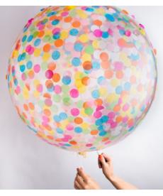Jumbo nafukovací balón s konfetami