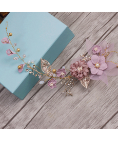 Svatební dekorační čelenka pro nevěstu