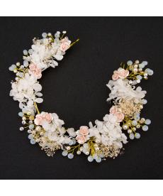 Květinová svatební dekorační čelenka