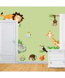 Dětská 3D samolepka - motiv zvířat