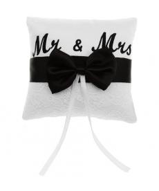 Polštářek na snubní prstýnky - Mrs.&Mr.