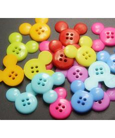 Mix barevných knoflíků - Mickey