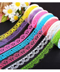 Barevná dekorační lepící páska - krajka