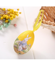 Sada barevných dekoračních závěsných velikonočních vajíček