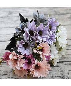 Umělá barevná květina - kopretina