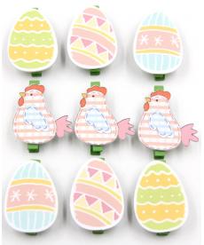 Sada dekoračních velikonočních kolíčků
