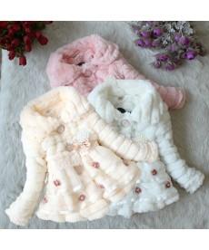 Luxusní dětský dívčí kabátek