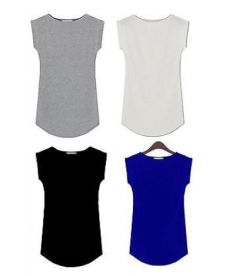 Jednoduché a jednobarevné elegantní dámské tričko