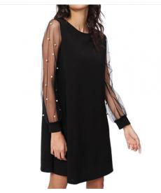 Elegantní dámské šaty s perlovým zdobením