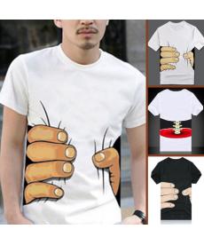 Vtipné pánské triko s 3D obrázkem