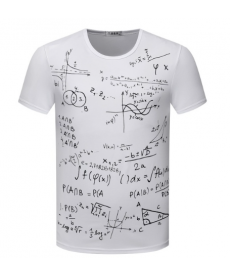 Pánské tričko v designu matematických výpočtů