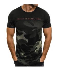 Pánské sportovní tričko v polomaskáčovém designu