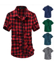 Pánská kostkovaná košile s krátkým rukávem
