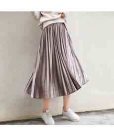 Lesklá dámská skládaná sukně
