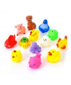 Sada 13 gumových hraček do vody