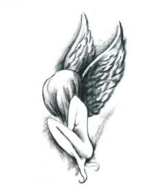 Dočasné tetování - anděl