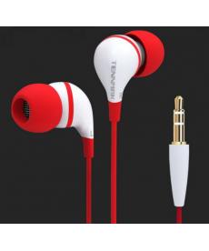 Červená sluchátka špuntová