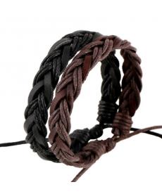 Pletený náramek dvou barev