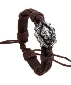 Retro náramek se lvem nebo lebkou