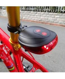 Zadní LED světlo a laser na kolo