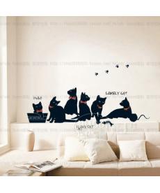 Samolepky na zeď - kočičky