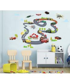 Dětská tapeta - autodráha