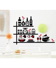 Samolepka do kuchyně - černo červená