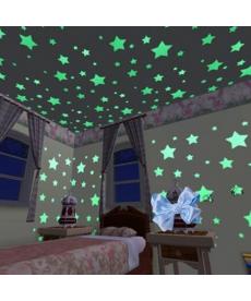 3D svítící hvězdy - 100 kusů