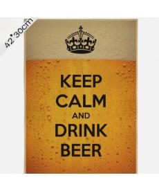 """Samolepka - """"Keep calm and drink beer"""""""