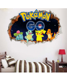 3D samolepka - Pokemon