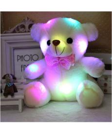 Svítící plyšový LED medvídek 25cm