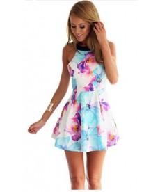 Květované šaty s odhalenými zády
