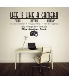 Fotoaparát - nálepka na zeď