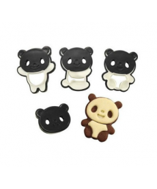 Formičky na cukroví panda