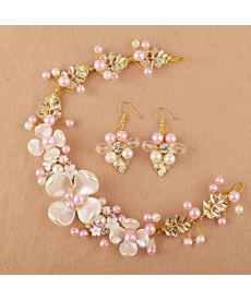 Svatební set šperků čelenka+náušnice