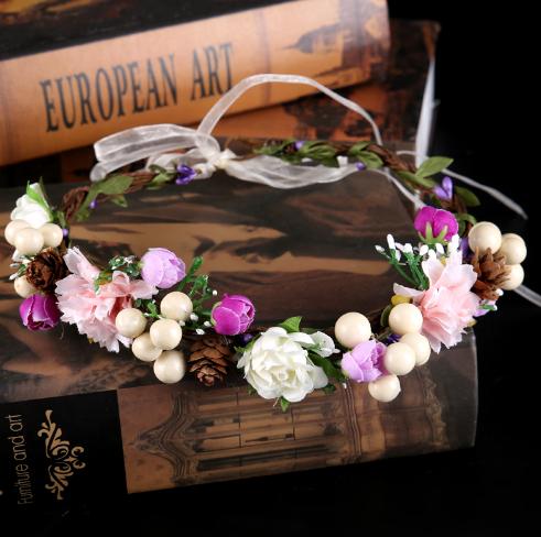 Květinová svatební čelenka pro nevěstu e4a4f7449a