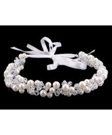 Svatební čelenka do vlasů - imitace perel