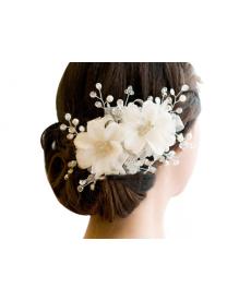 Svatební květinová ozdoba do vlasů