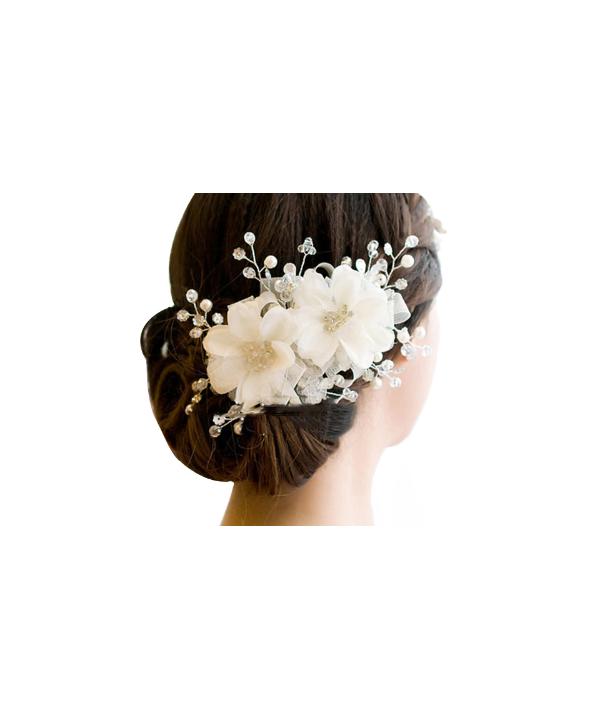 bf6092f3cad Svatební květinová ozdoba do vlasů v různých barvách