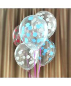 Sada svatebních balónků s puntíky