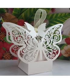 Sada svatebních dekoračních krabiček - motýl