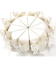 Sada svatebních dárkových krabiček na dort - motýl