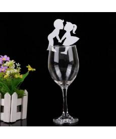 Sada svatebních papírových dekorací na skleničku