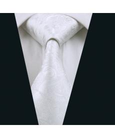 Bílá pánská svatební vázanka