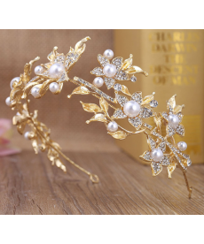 Zlatá svatební čelenka